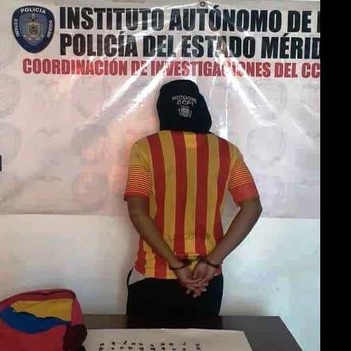 """Diario Frontera, Frontera Digital,  MUNICIPIO LIBERTADOR, Sucesos, ,POLICIA CAPTURÓ A """"EL LOLO"""" CON SESENTA  ENVOLTORIOS DE PRESUNTA DROGA EN LIBERTADOR"""