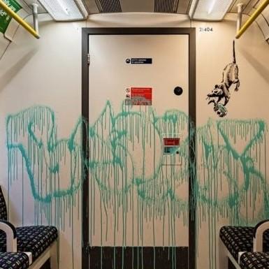 Diario Frontera, Frontera Digital,  Banksy dibuja en el metro de Londres, Entretenimiento, ,Banksy dibuja en el metro de Londres para impulsar el uso de la mascarilla