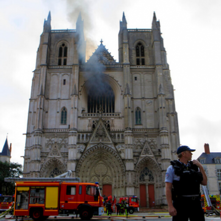 Diario Frontera, Frontera Digital,  NANTES, Internacionales, ,Fuego que afectó a la catedral de Nantes destruyó un famoso órgano #19Jul