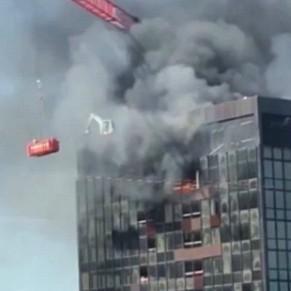 Diario Frontera, Frontera Digital,  World Trade Center de Bruselas, Internacionales, ,Se incendia el último piso  del World Trade Center de Bruselas