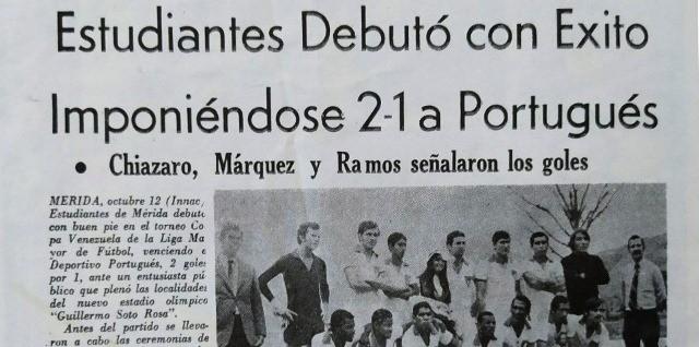 Diario Frontera, Frontera Digital,  ESTUDIANTES DE MÉRIDA F.C., 50 AÑOS, Deportes, ,50 años de un amor a primera vista