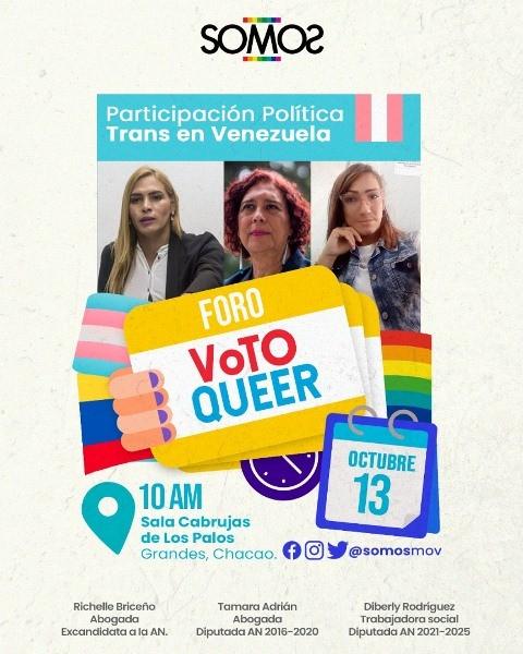 Diario Frontera, Frontera Digital,  SOMOS lidera foro en Caracas, Nacionales, ,SOMOS lidera foro en Caracas sobre retos y avances  de la participación política de las personas trans en Venezuela