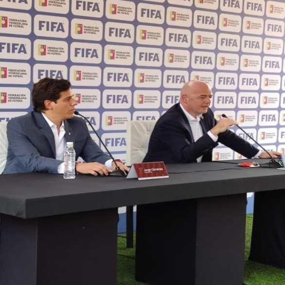 """Frontera Digital,  FVF, Deportes,  Presidente de la FIFA quiere hacer """"brillar""""  a la Vinotinto internacionalmente"""