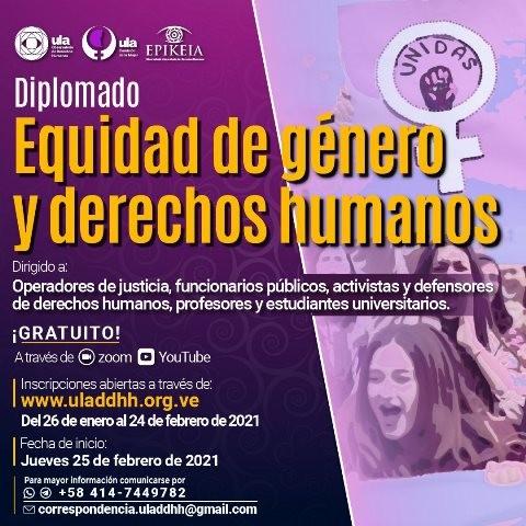 Diario Frontera, Frontera Digital,  ODH - ULA, Regionales, ,ODH-ULA abre inscripciones para diplomado  sobre equidad de género y derechos humanos
