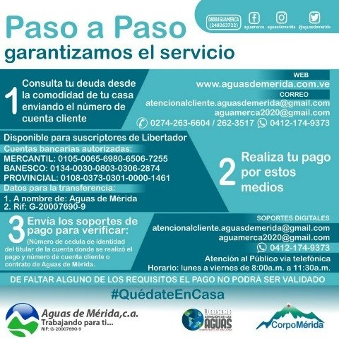 Diario Frontera, Frontera Digital,  AGUAS DE MÉRIDA, PAGO DESDE CASA, Regionales, ,Desde la comodidad del hogar podrás pagar el servicio de agua en Mérida