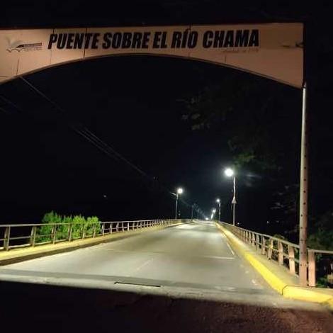 Diario Frontera, Frontera Digital,  CORPOELEC, PUENTE CHAMA, Panamericana, ,En Mérida  Plan Integral de Iluminación rehabilitó alumbrado del puente sobre el río Chama