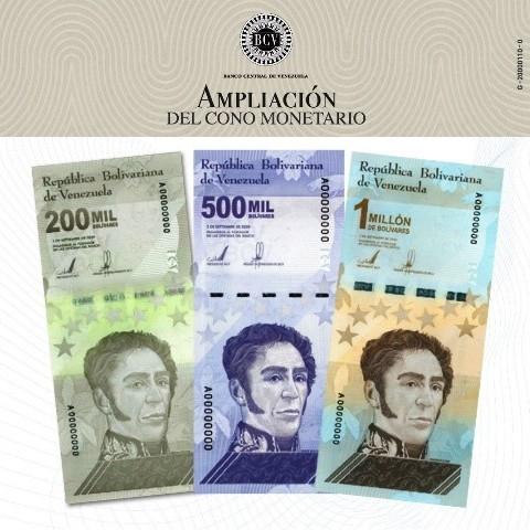 Diario Frontera, Frontera Digital,  BILLETES NUEVOS, BCV, Nacionales, ,BCV amplía Cono Monetario vigente con incorporación de tres nuevos billetes