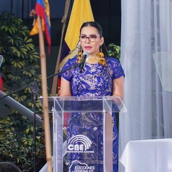 Frontera Digital,  ELECCIONES EN ECUADOR, Internacionales,  Diana Atamaint: Se proclamará al ganador oficial  una vez que el último voto haya sido contado