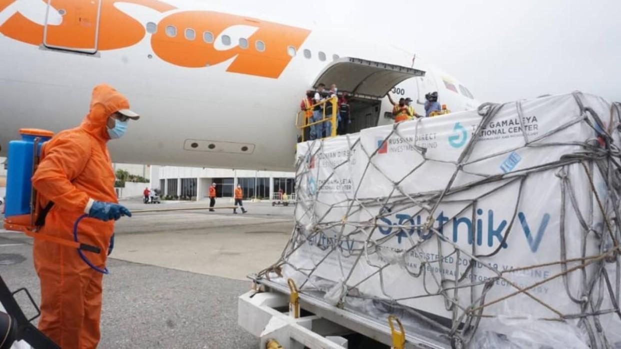 Diario Frontera, Frontera Digital,  LLEGAN VACUNAS, Nacionales, ,Arriban al país 500 mil dosis de Sputnik V contra Covid-19