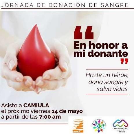 Diario Frontera, Frontera Digital,  JORNADA DE DONACIÓN DE SANGRE, Salud, ,Gran jornada de donación voluntaria de sangre  se realizará este viernes en Camiula