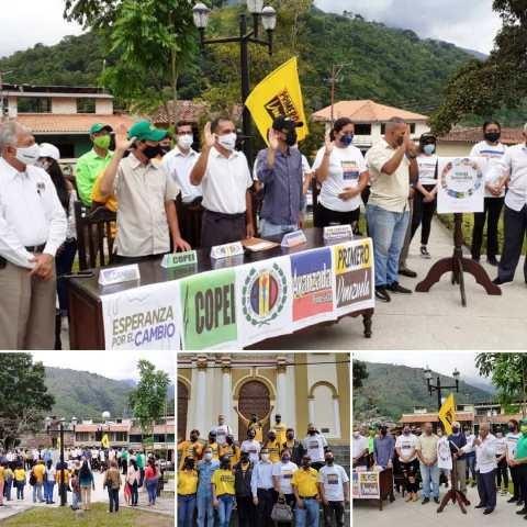 Diario Frontera, Frontera Digital,  ALIANZA DEMOCRÁTICA, Mocoties, ,ALIANZA DEMOCRÁTICA JURAMENTÓ EQUIPOS  EN ANTONIO PINTO SALINAS RUMBO AL 21N