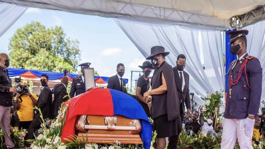 Diario Frontera, Frontera Digital,  HAITÍ, Internacionales, ,Exprimera dama de Haití acudió al funeral del presidente asesinado