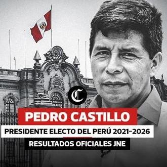 Diario Frontera, Frontera Digital,  PEDRO CASTILLO, PRESIDENTE ELECTO DEL PERÚ, Internacionales, ,JNE proclamó a Pedro Castillo Terrones como presidente electo 2021-2026