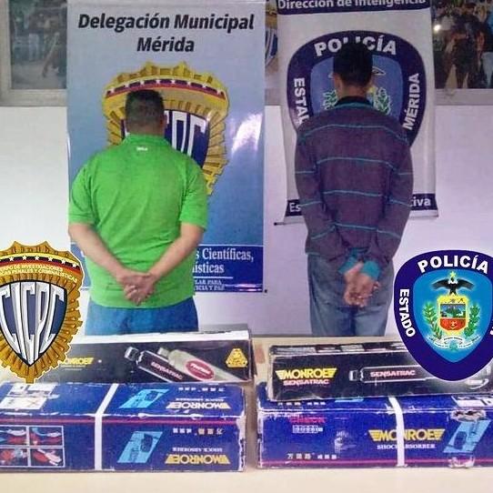 Frontera Digital,  POLIMÉRIDA Y CICPC, Sucesos,  POLIMERIDA Y CICPC MÉRIDA CAPTURARON  A DOS CIUDADANOS POR HURTO EN LIBERTADOR