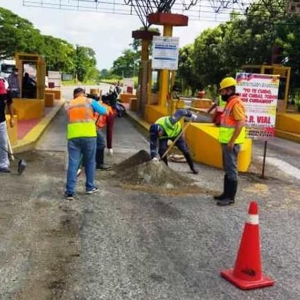 Diario Frontera, Frontera Digital,  Sapvem, Panamericana, ,Sapvem inició trabajos de reparación del pavimento en el peaje de Zea