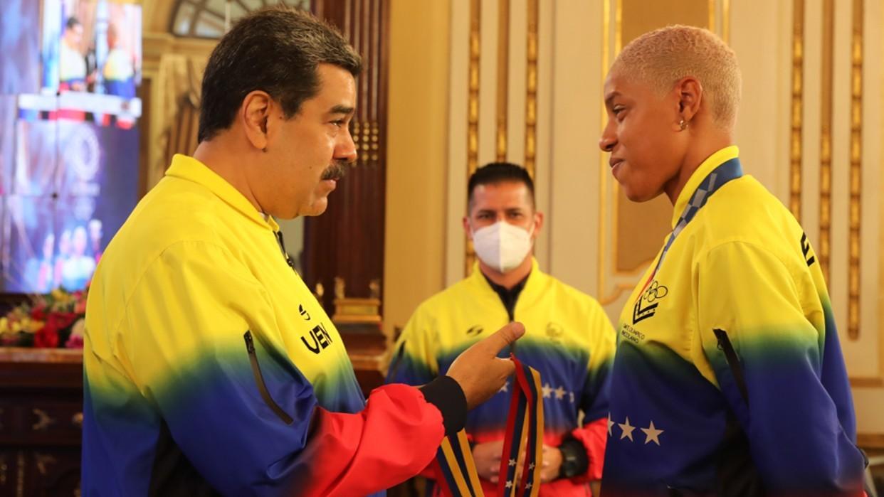 Diario Frontera, Frontera Digital,  NICOLÁS MADURO, YULIMAR ROJAS, Nacionales, ,Presidente Maduro tras recibir a Yulimar Rojas:  Venezuela está en un buen momento deportivo